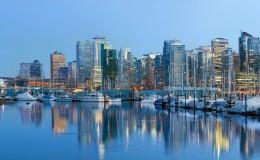 Vancouver BC City Skyline at Dusk