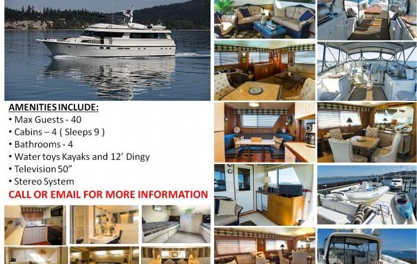 70′ Hatteras Luxury Yacht