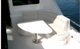 82′ Horizon Luxury Yacht Seattle Yacht Charters Daily  Deck Seating