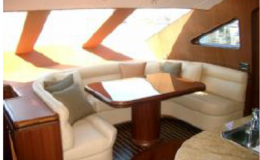 82′ Horizon Luxury Yacht Seattle Yacht Charters Daily5 Dinette