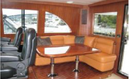 82′ Horizon Luxury Yacht Seattle Yacht Charters Daily7 Sky Lounge